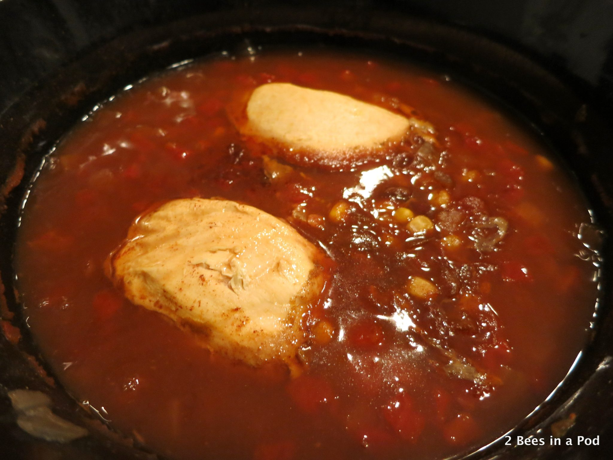 Diced Tomatoes wCrock Pot Chicken Taco Chili - Weight Watchers