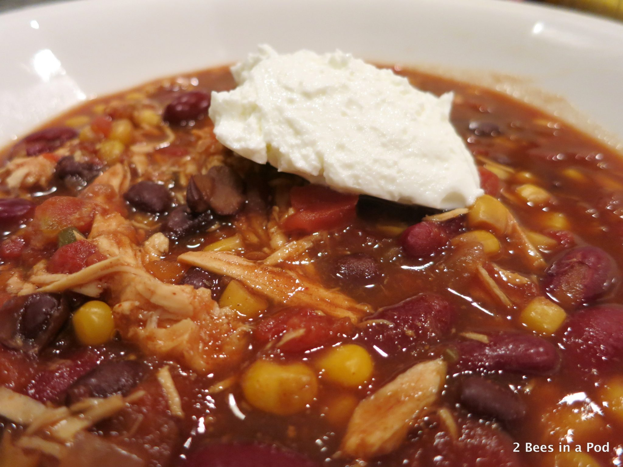 Diced Tomatoes withCrock Pot Chicken Taco Chili - Weight Watchers