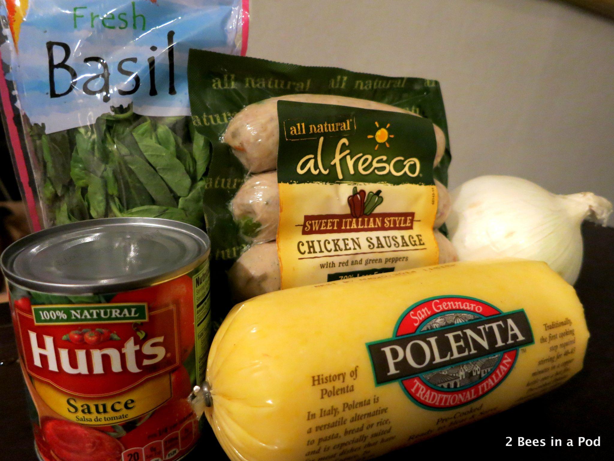 Ingredients for Polenta & Sausage - Weight Watchers Recipe