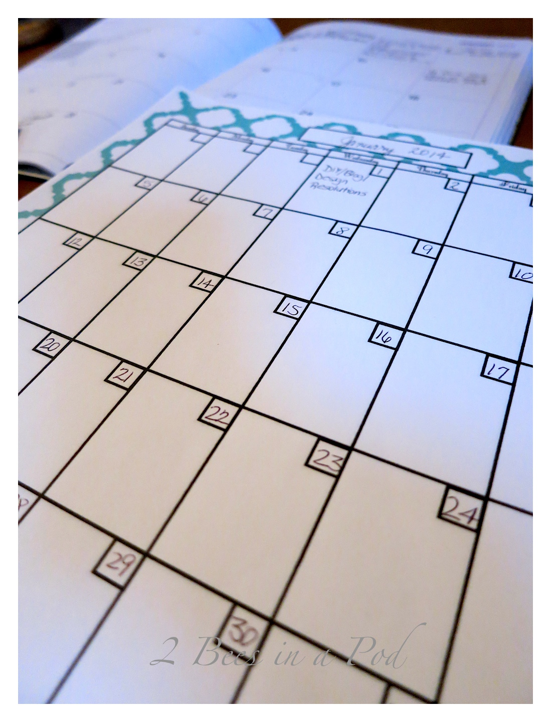 It's a New Year...resolutions to be organized, healthier, better blogger. It's easy to stay organized with this bloggers planner.