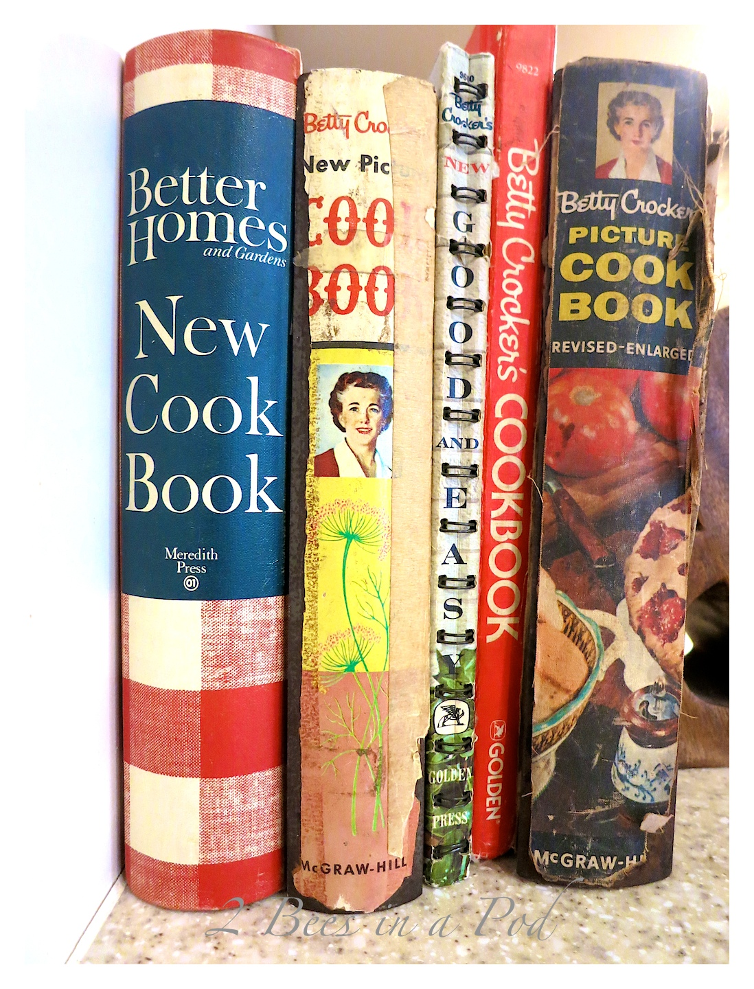 Collection of inherited vintage cookbooks...This is just a sampling. Most of these are Betty Crocker cookbooks from the 1950's and 1960's