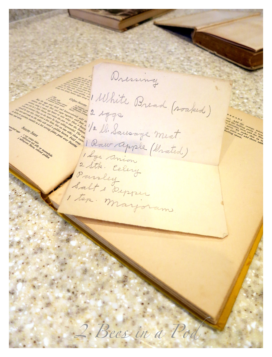 Collection of inherited vintage cookbooks...