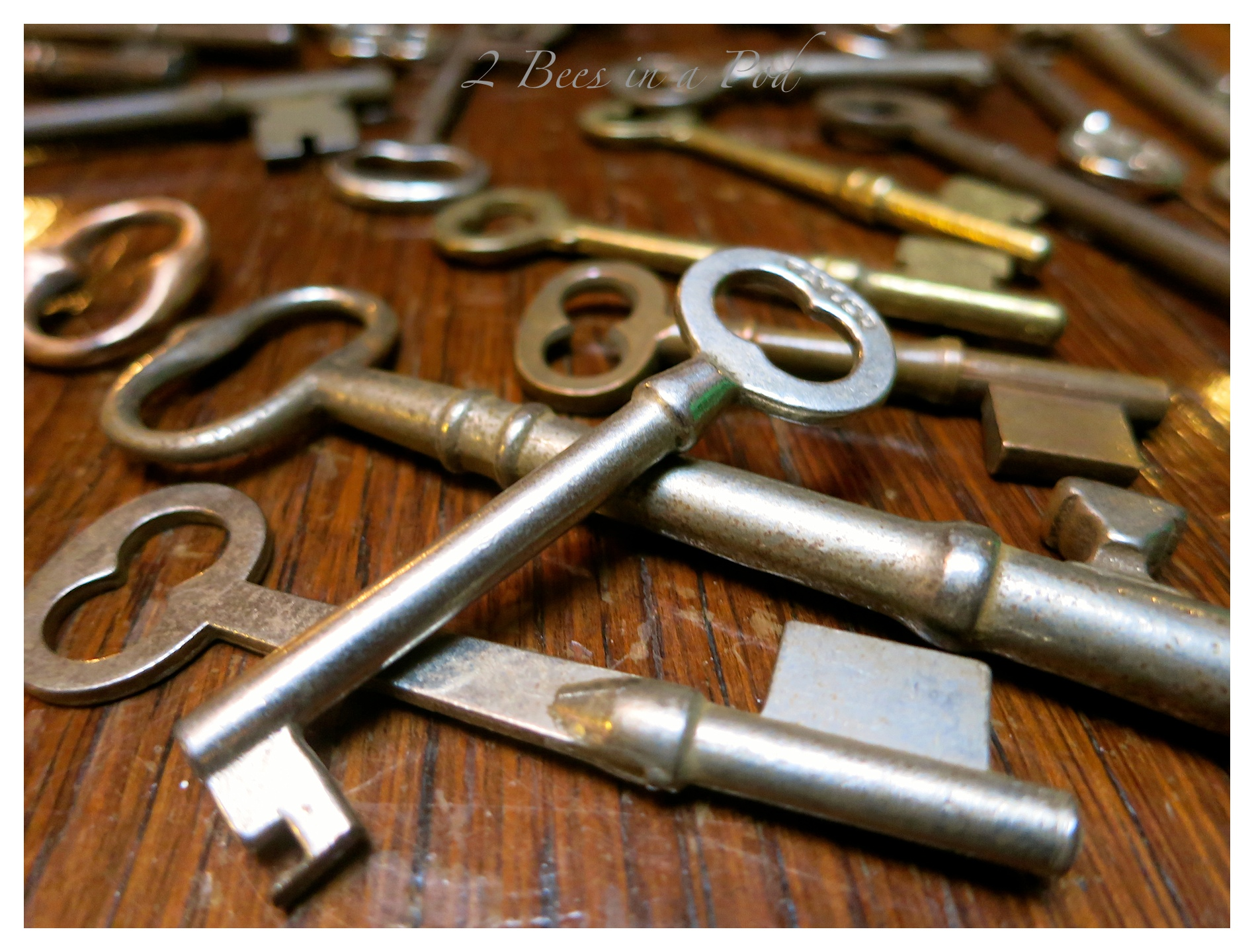 Skeleton keys from Black Bear Creek Antiques in Clayton, GA