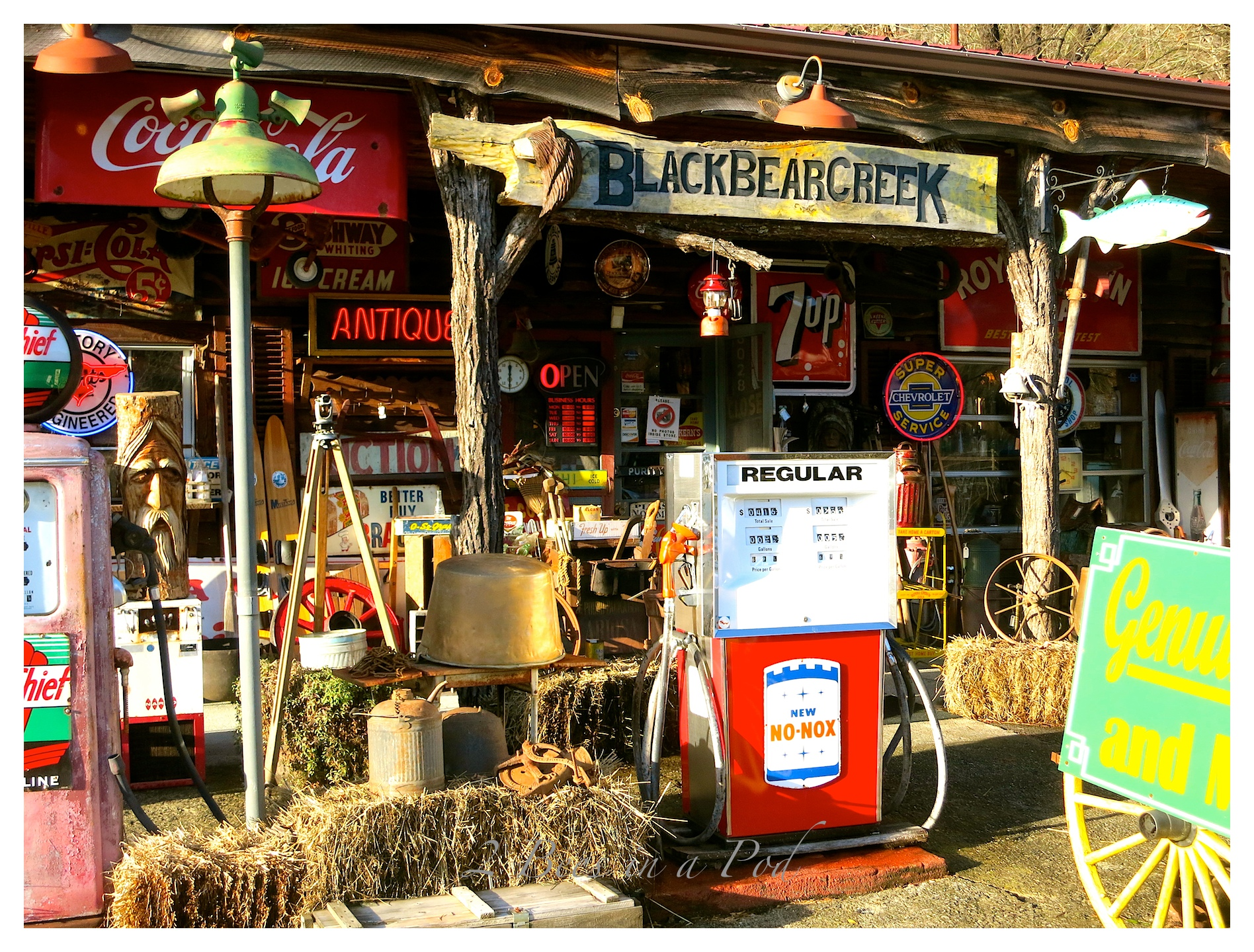 Wonderful antiques and vintage items at Black Bear Creek Antiques in Clayton, Georgia