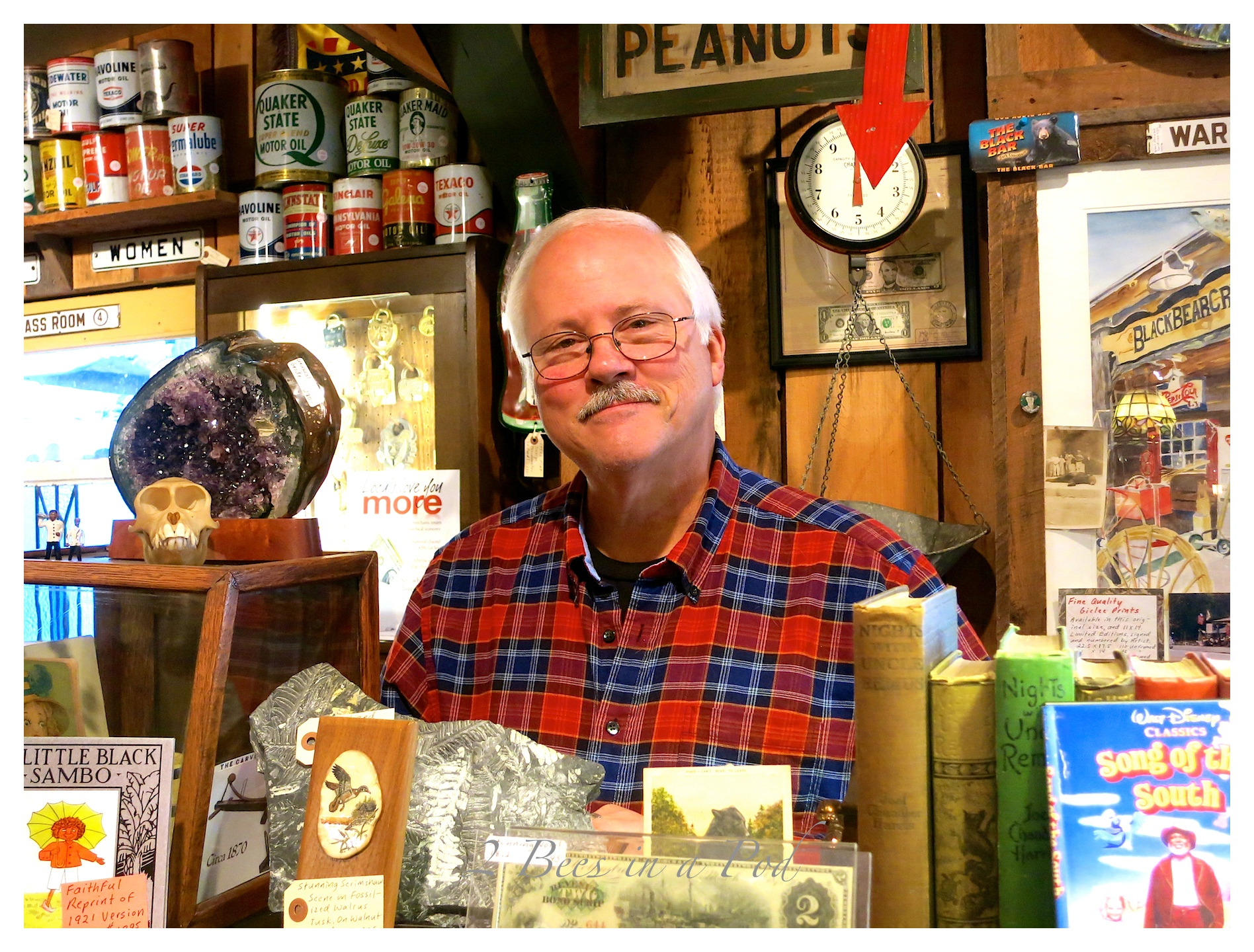 Jim reaves, owner of Black Bear Creek Antiques in Clayton, Georgia