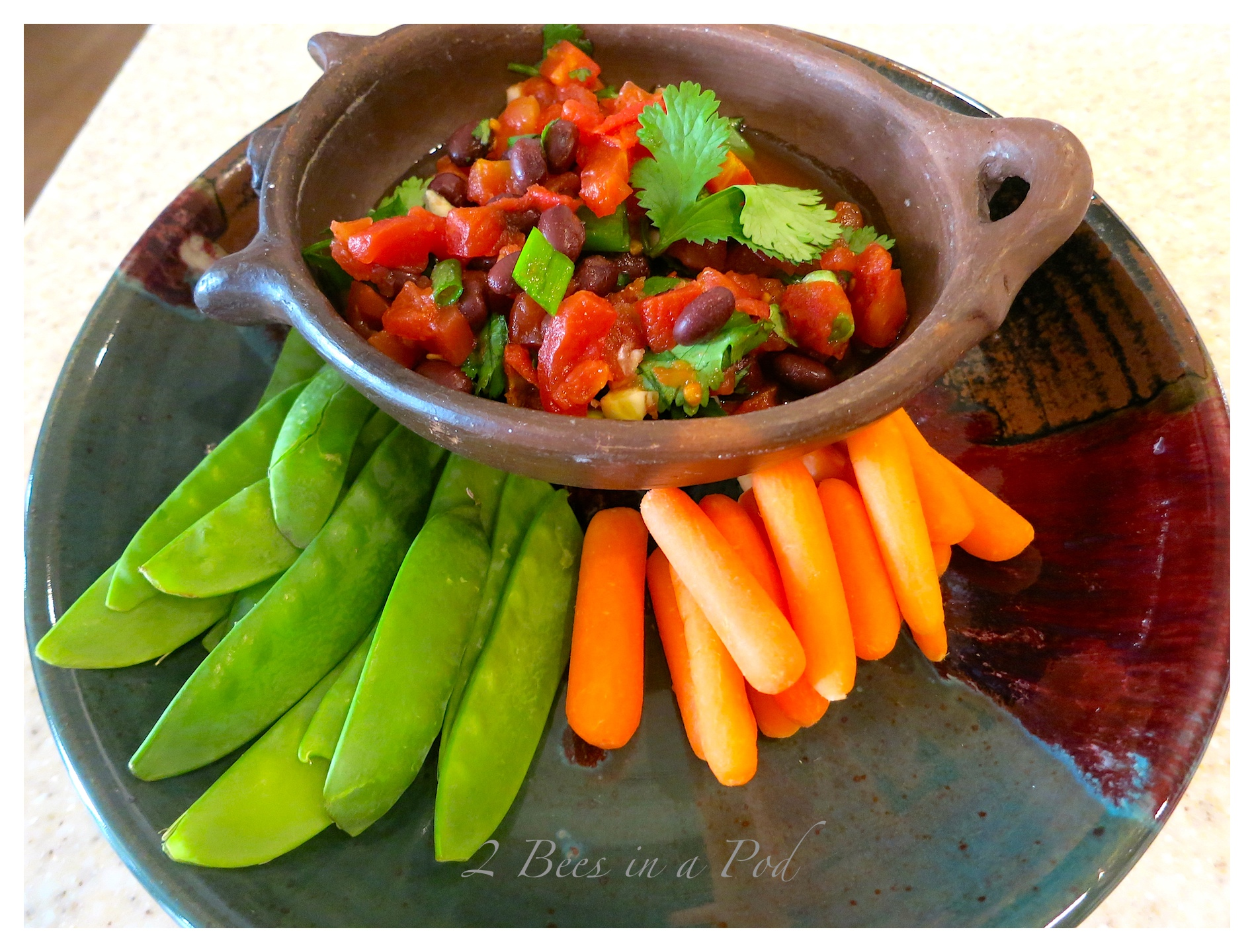 Skinny Super Bowl Snack - Black Bean Salsa. Packed with flavor and very healthy!