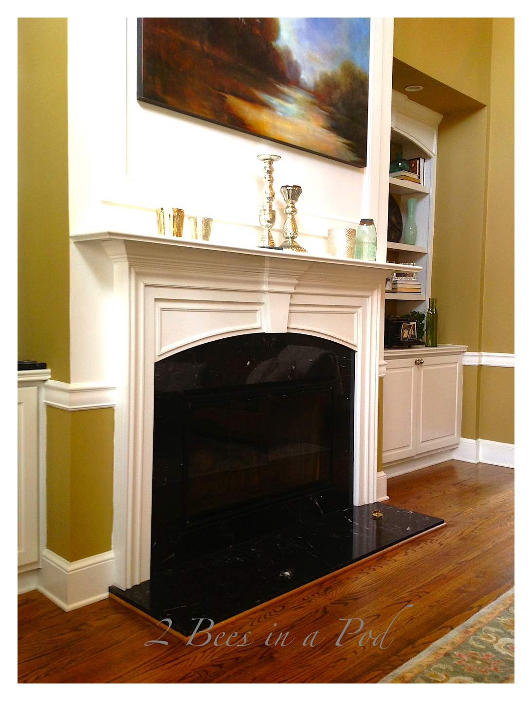 Fireplace Mantle - before the spice up