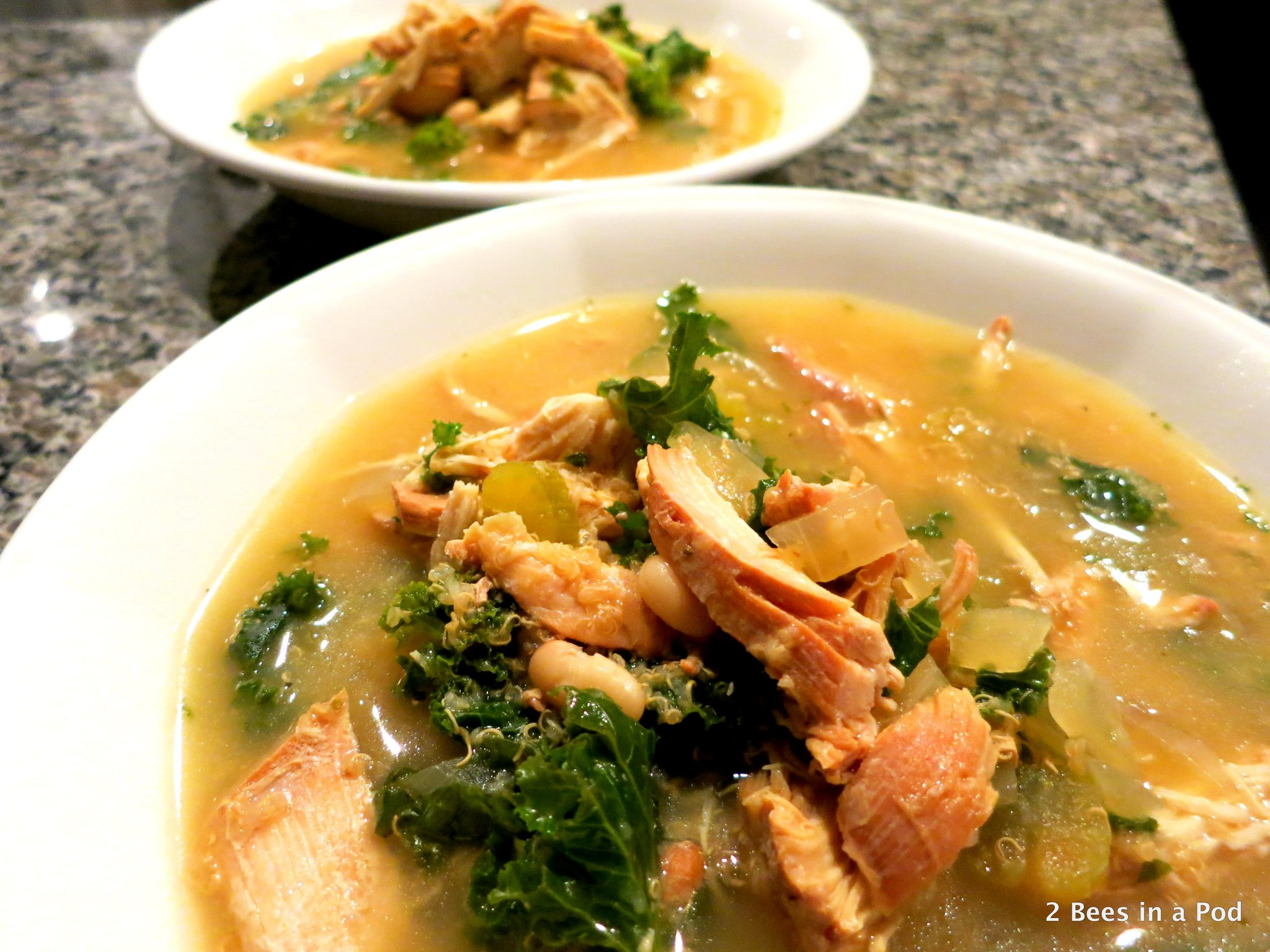 Slow Cooker Chicken, Quinoa, & Kale Soup