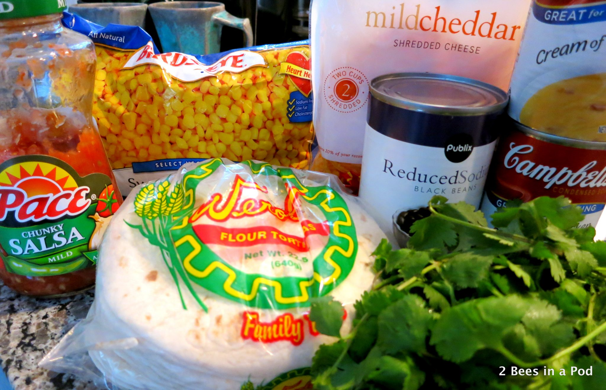 Ingredients for Slow Cooker Chicken Tortilla Soup