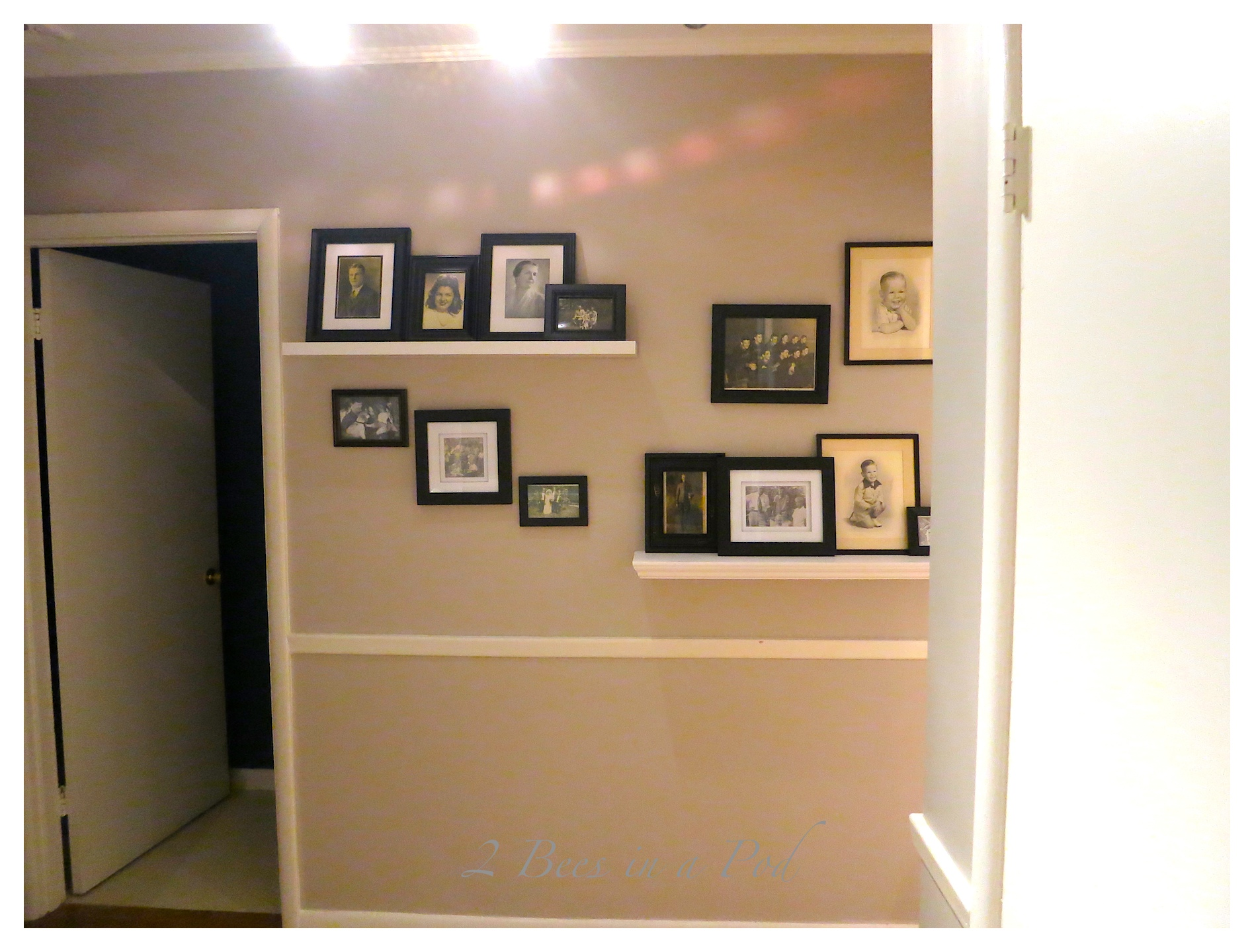 A foyer got a makeover...by just moving around furnishings and accessories a complete transformation and look was achieved.
