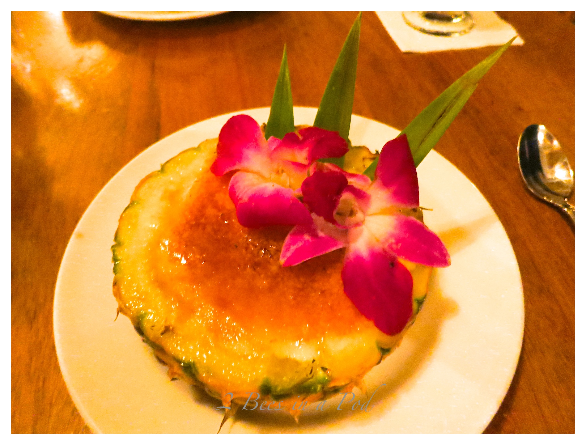 We were thrilled to discover Hula Grill restaurant on the beach at Waikiki. Beautiful sunset, tasty, pretty food and the first Mai Tai of my life.