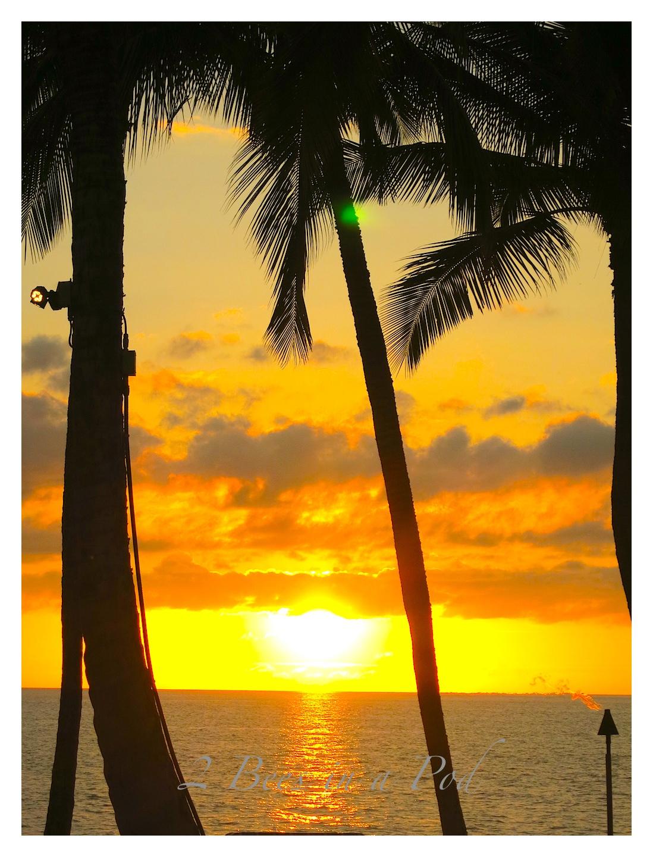 Hawaaian sunset in Waikola, HI