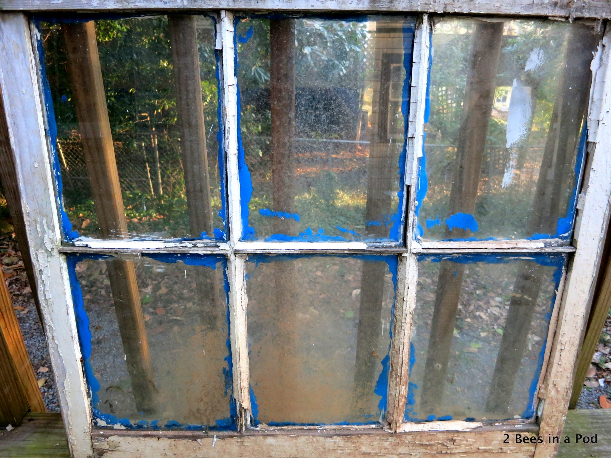 Distressed Window before making it into a chalkboard. Amazing trash to treasure find!