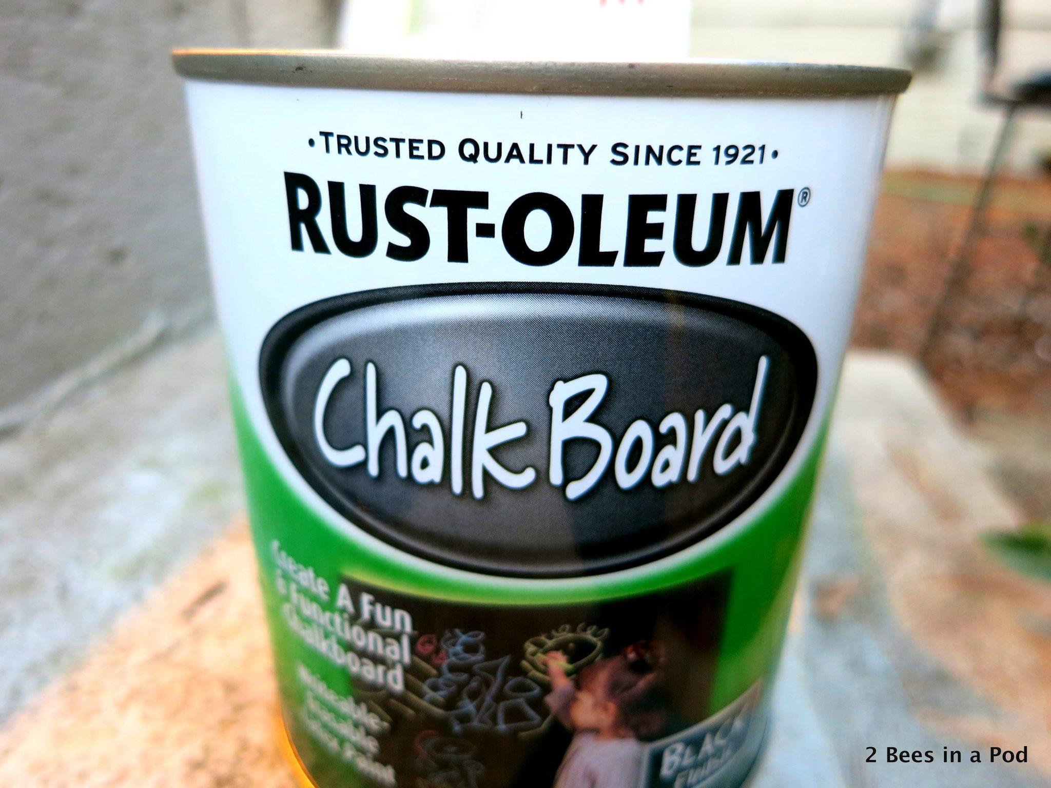 Rust-oleum chalk board paint