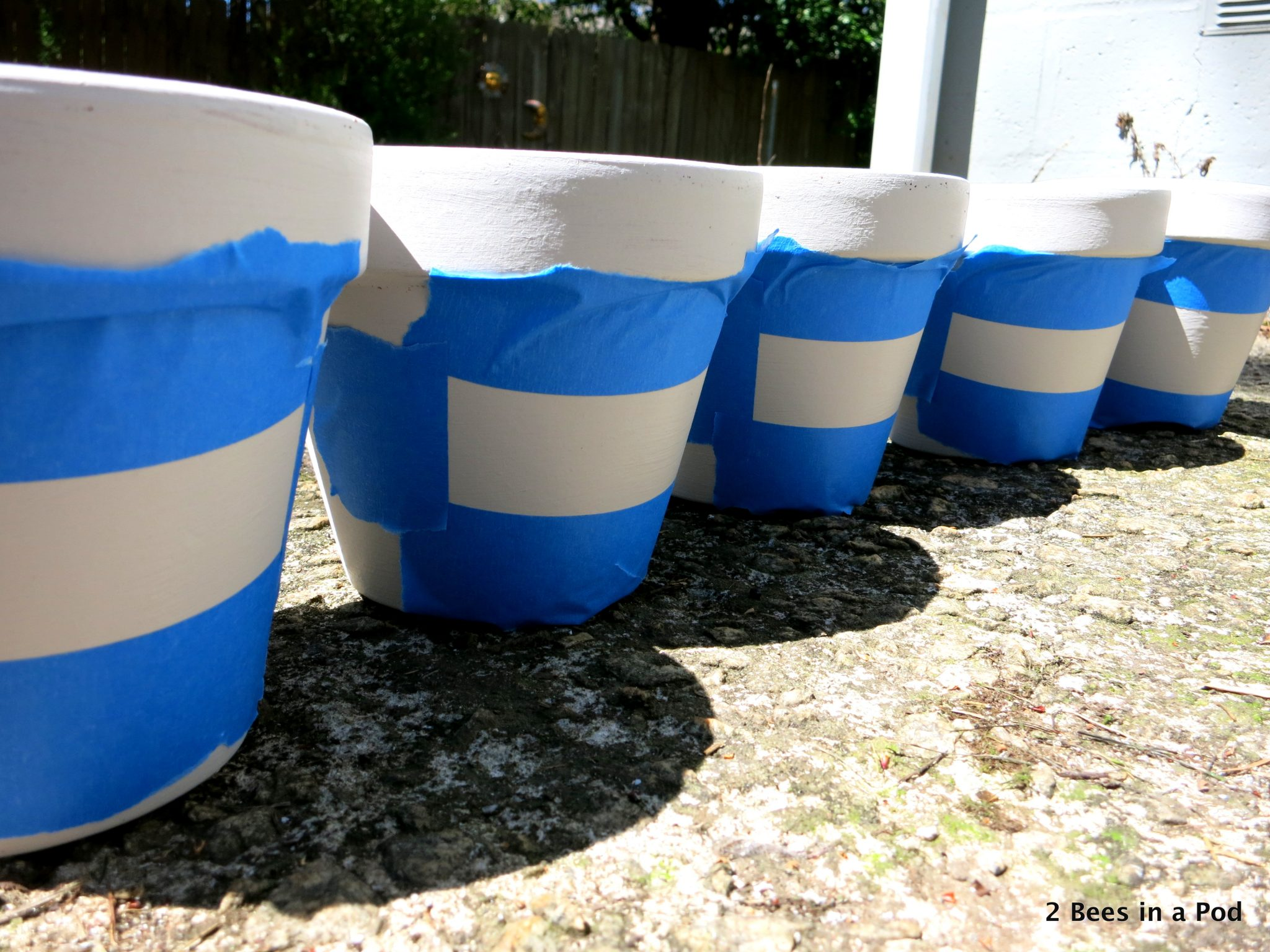 Painting terracotta pots for herb garden...using chalk paint for labels