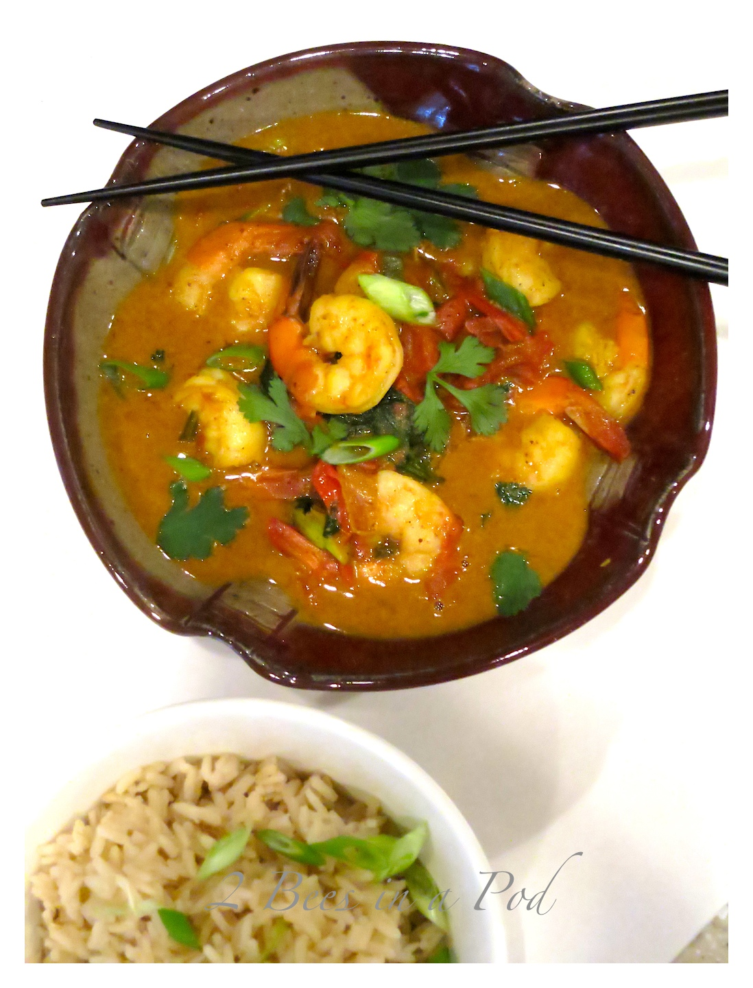 Coconut Curry Shrimp Light - packed with delicious Thai flavors! Weight Watchers friendly - only 8 PPV :) Curry, light coconut milk, scallions, cilantro, shrimp. This recipe takes literally 10 minutes to make!