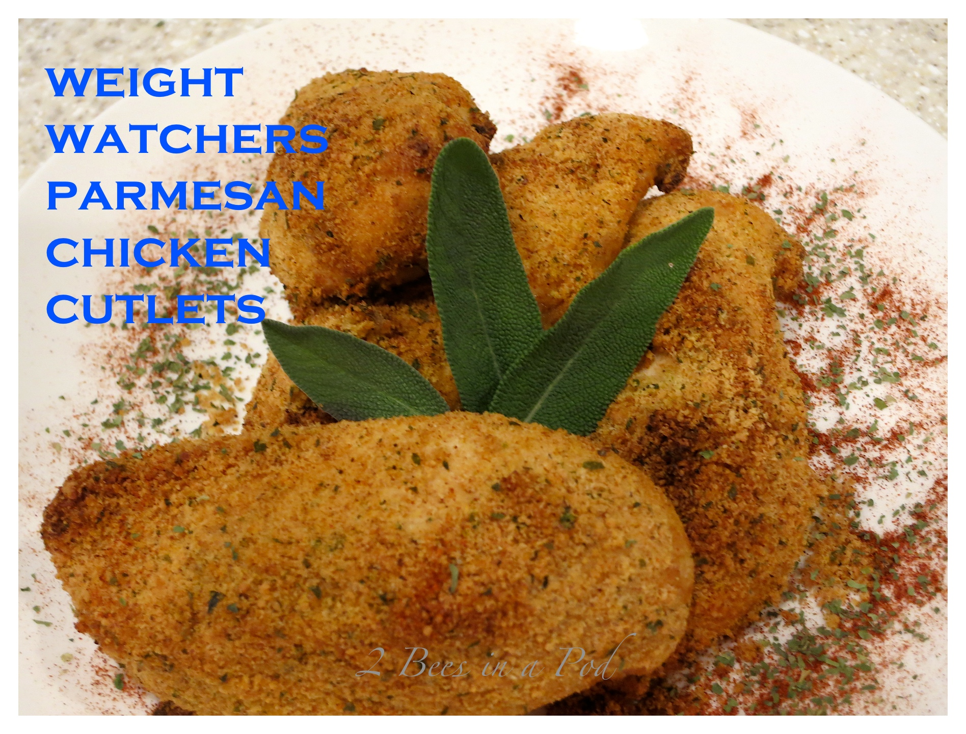 Another delicious Weight Watchers recipe...Parmesan Chicken Cutlets. Super easy and delicious - a wonderful dinner. I never feel like I eat diet food :)