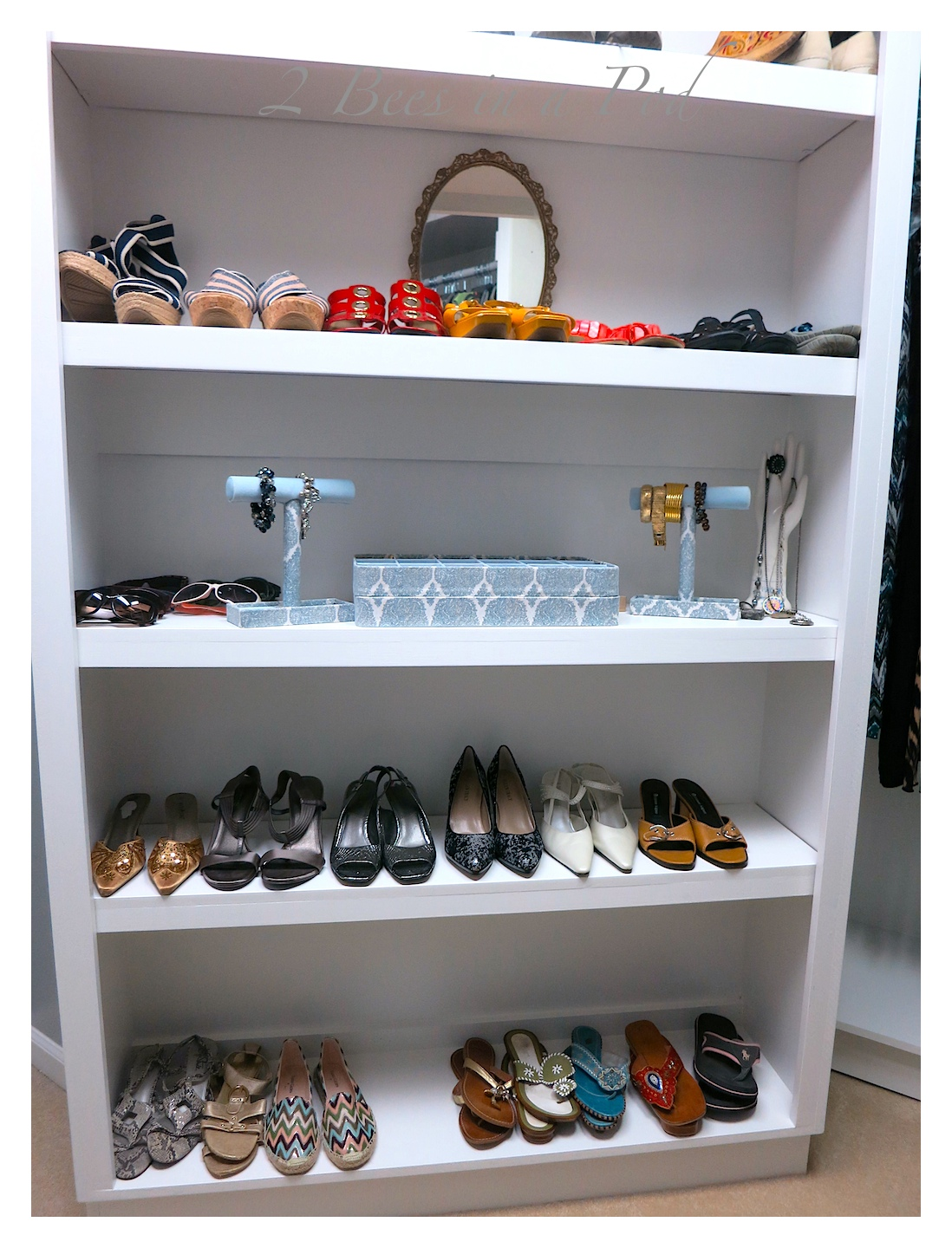 Master Closet Makeover Reveal - total transformation with a little reworking - so much more room for storage and clothing.