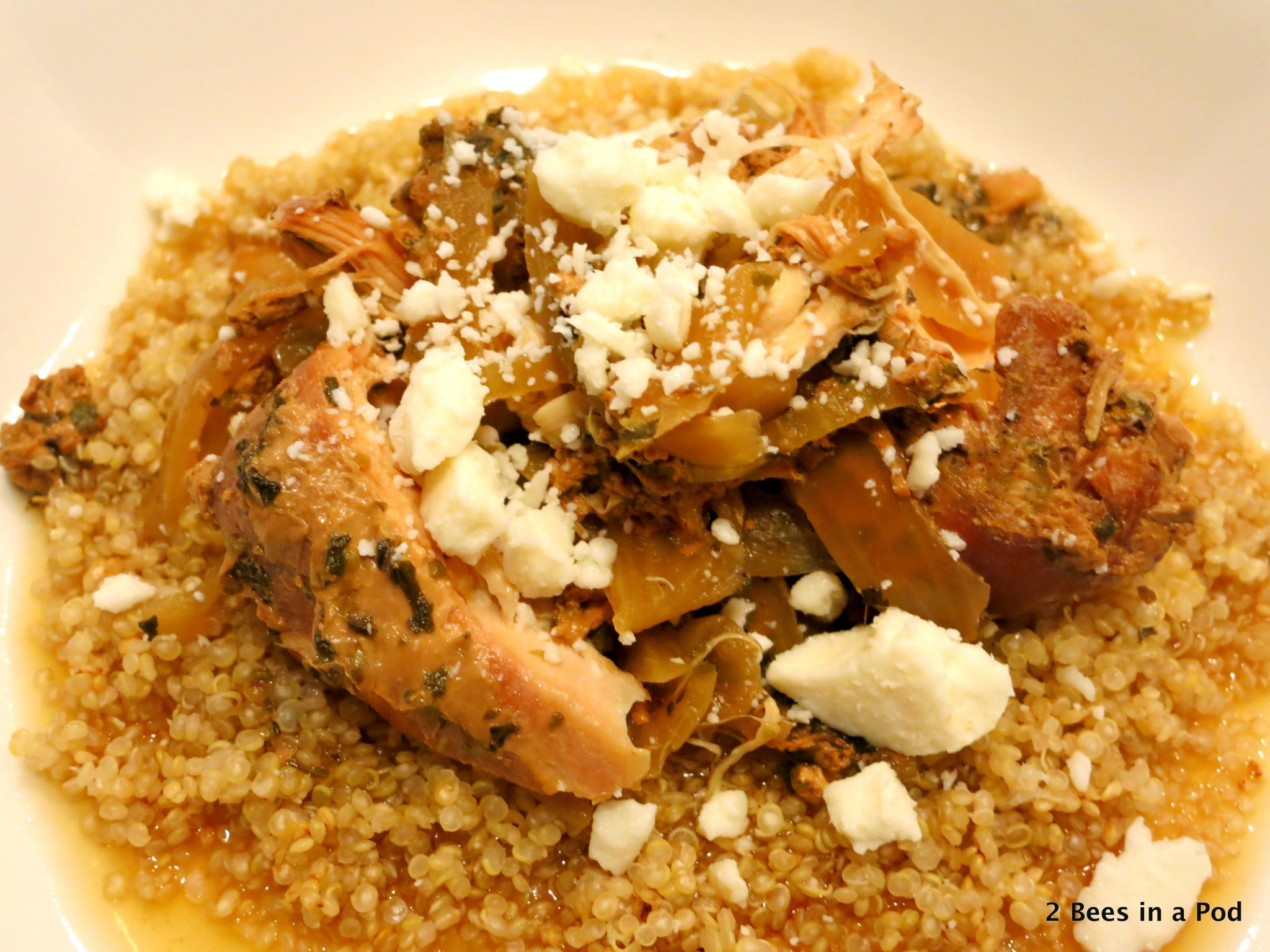 Greek Chicken Slow Cooker with Feta Cheese