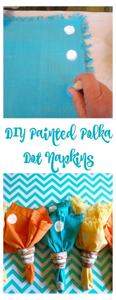 DIY Painted Polka Dot Napkins