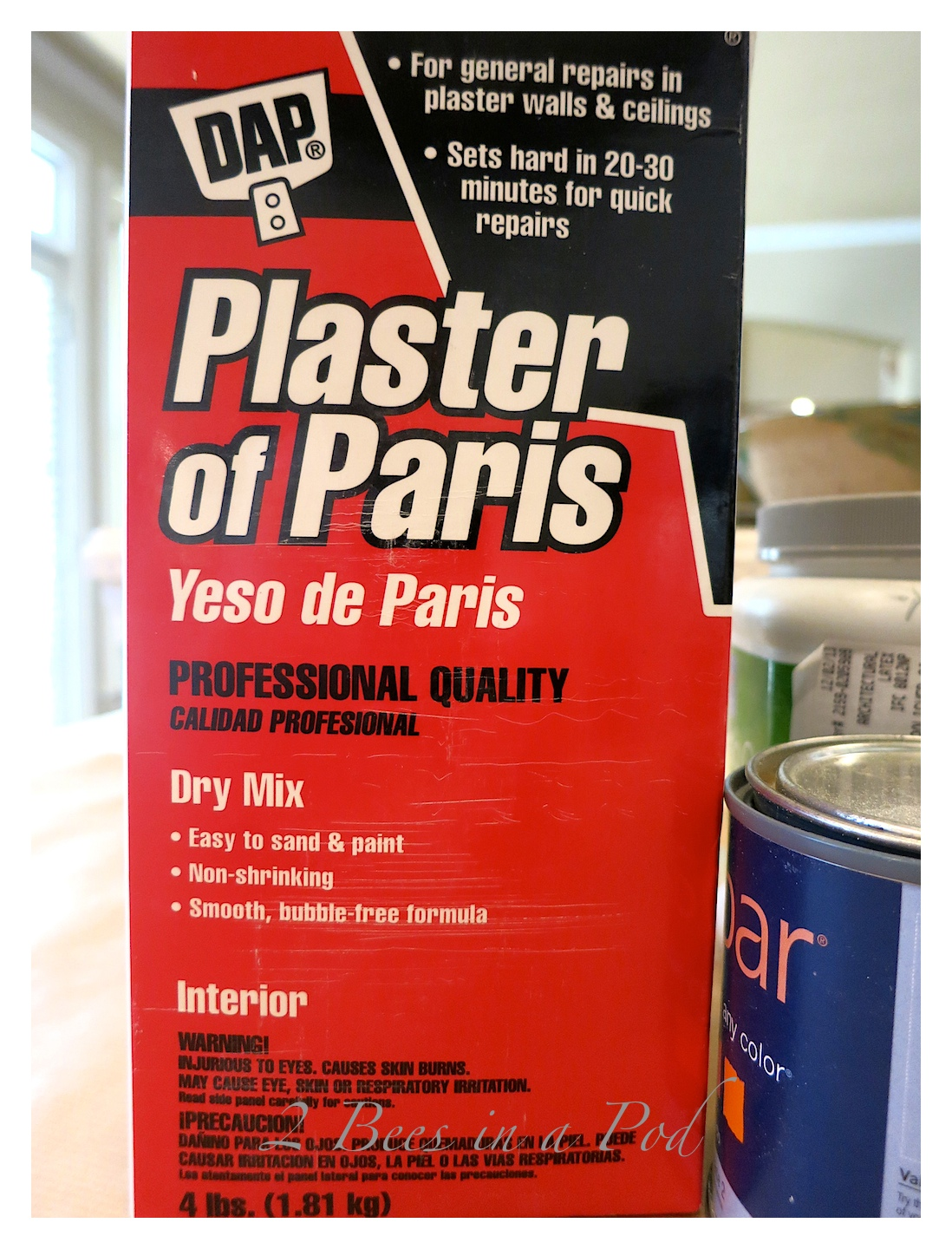 Plaster of Paris is the key piece in making homemade chalk paint. DIY Chalk Paint.