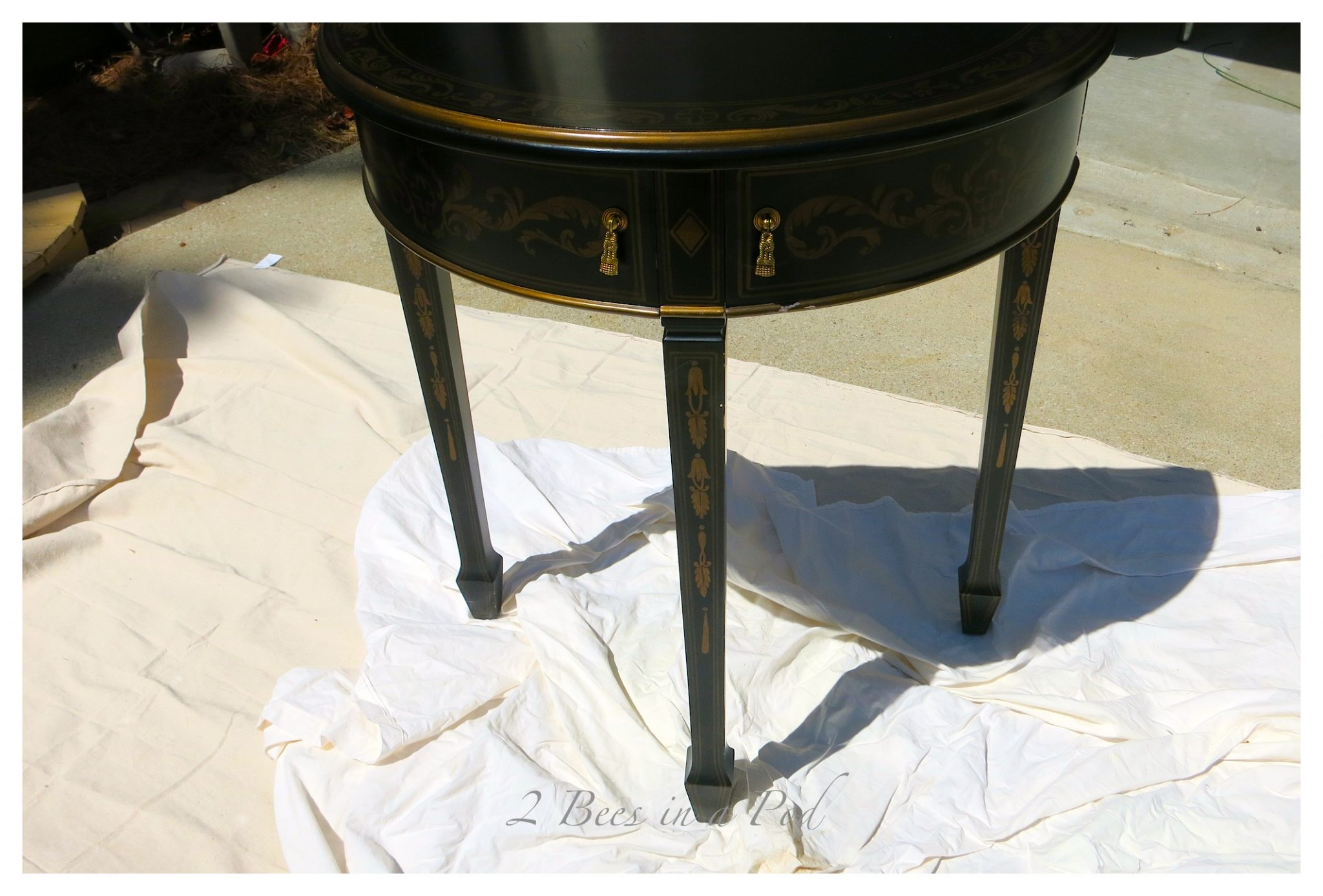 This piece of furniture was in desperate need of a makeover. Homemade chalk paint recipe.