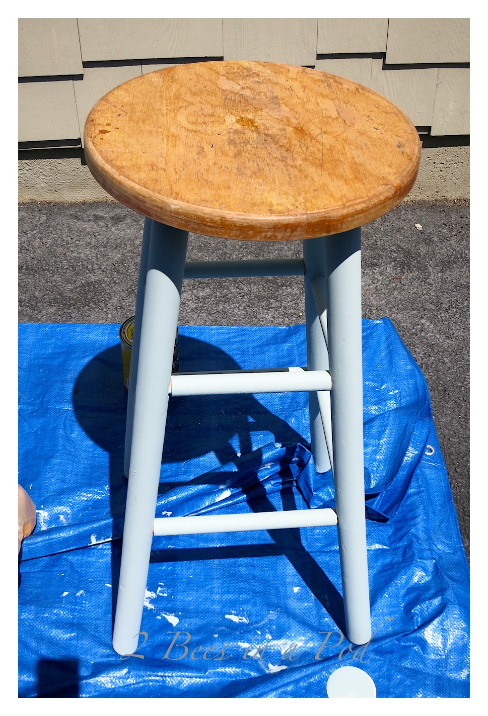 This barstool was literally saved from the trash. See how a curbside discard gets a makeover and goes from trash to treasure.All it took was a little cleaning and the application of some homemade chalk paint.