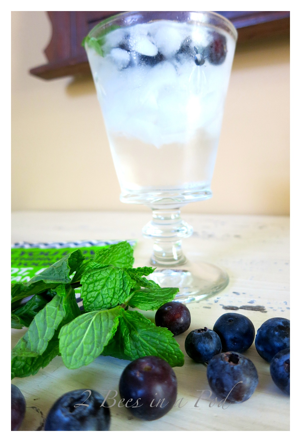 Summer Blue Cocktail - light, refreshing blueberry flavor. Low in calories - high in taste. One ounce of Stolichnaya Blueberry infused vodka and club soda.