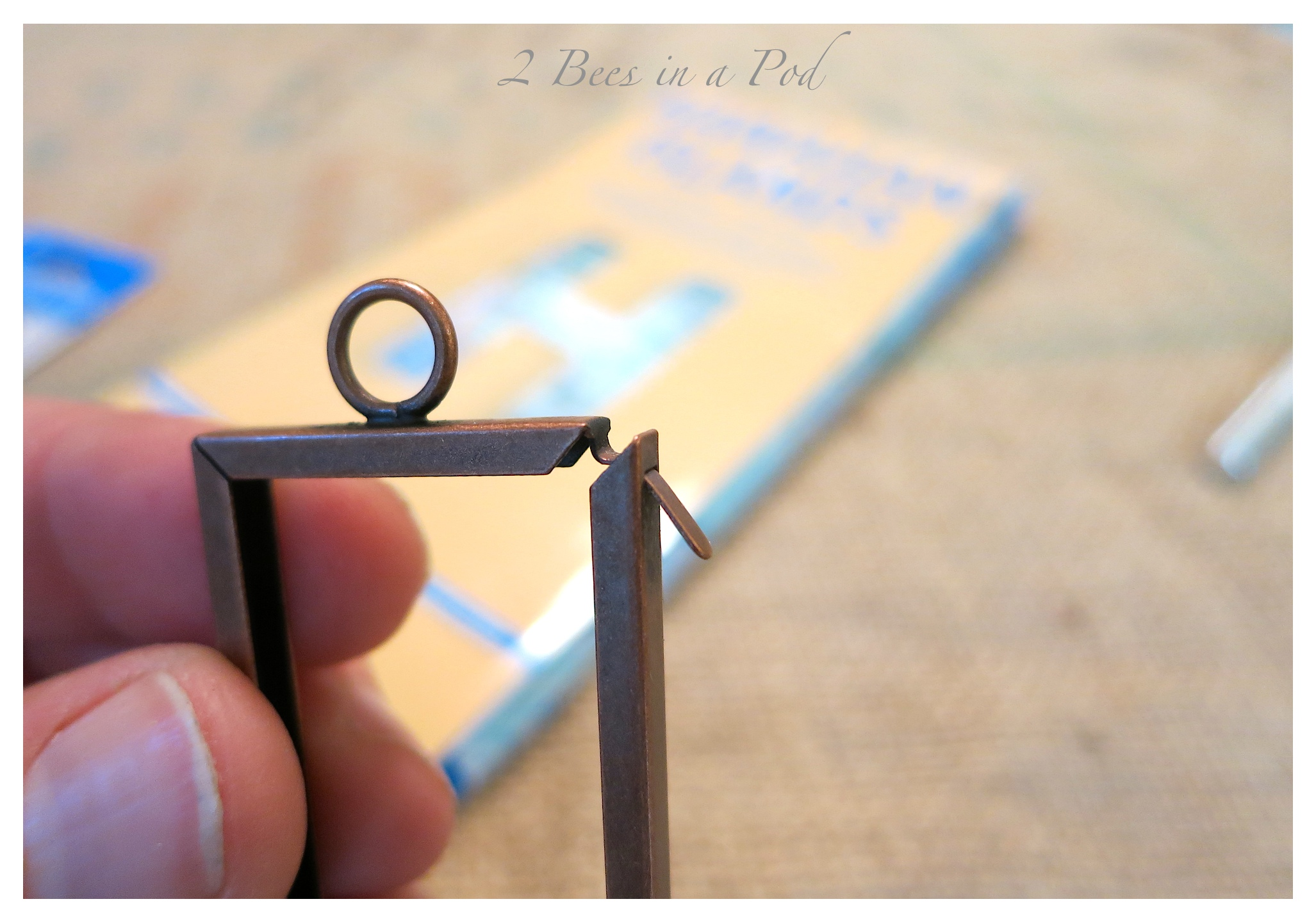Easy DIY Craft - Map Charm Necklace