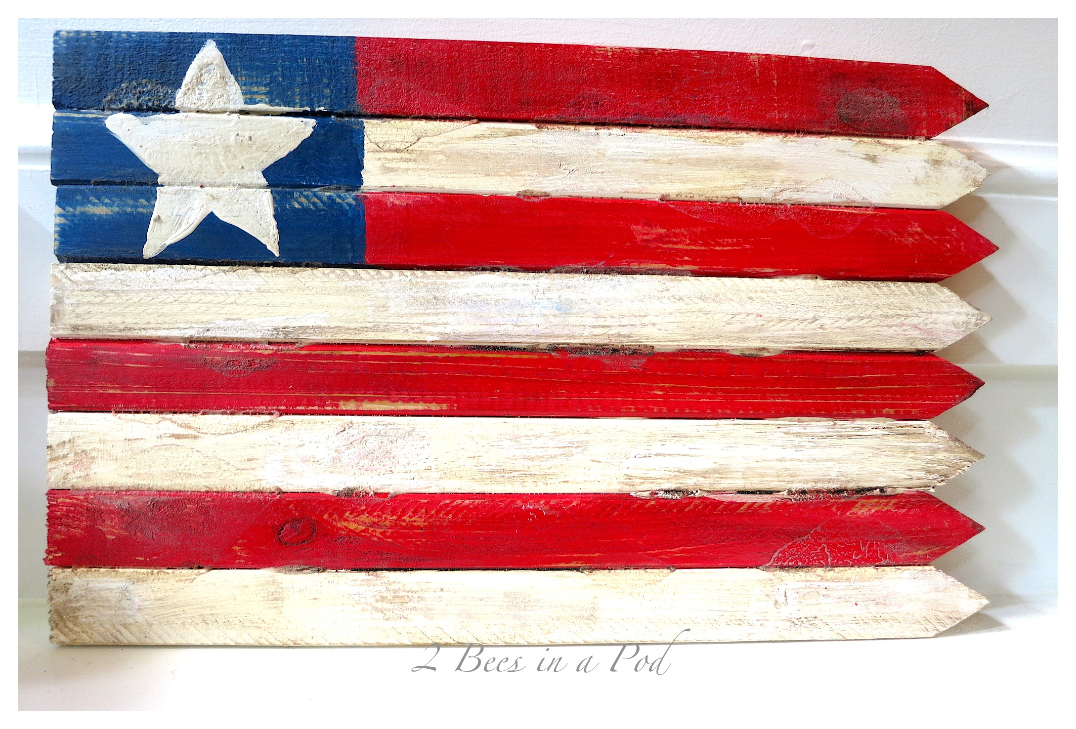 DIY – USA Wooden Flag Made with Grade Stake Pickets…
