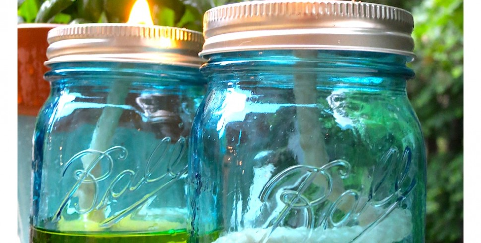 DIY Mason Jar Citronella Candle Oil Lamp…
