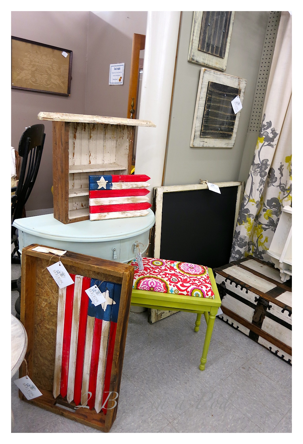 This is our new sales space to share our painted furniture, handmade items and vintage items.
