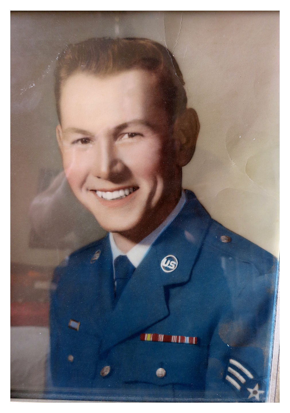 Dad in Air Force Uniform