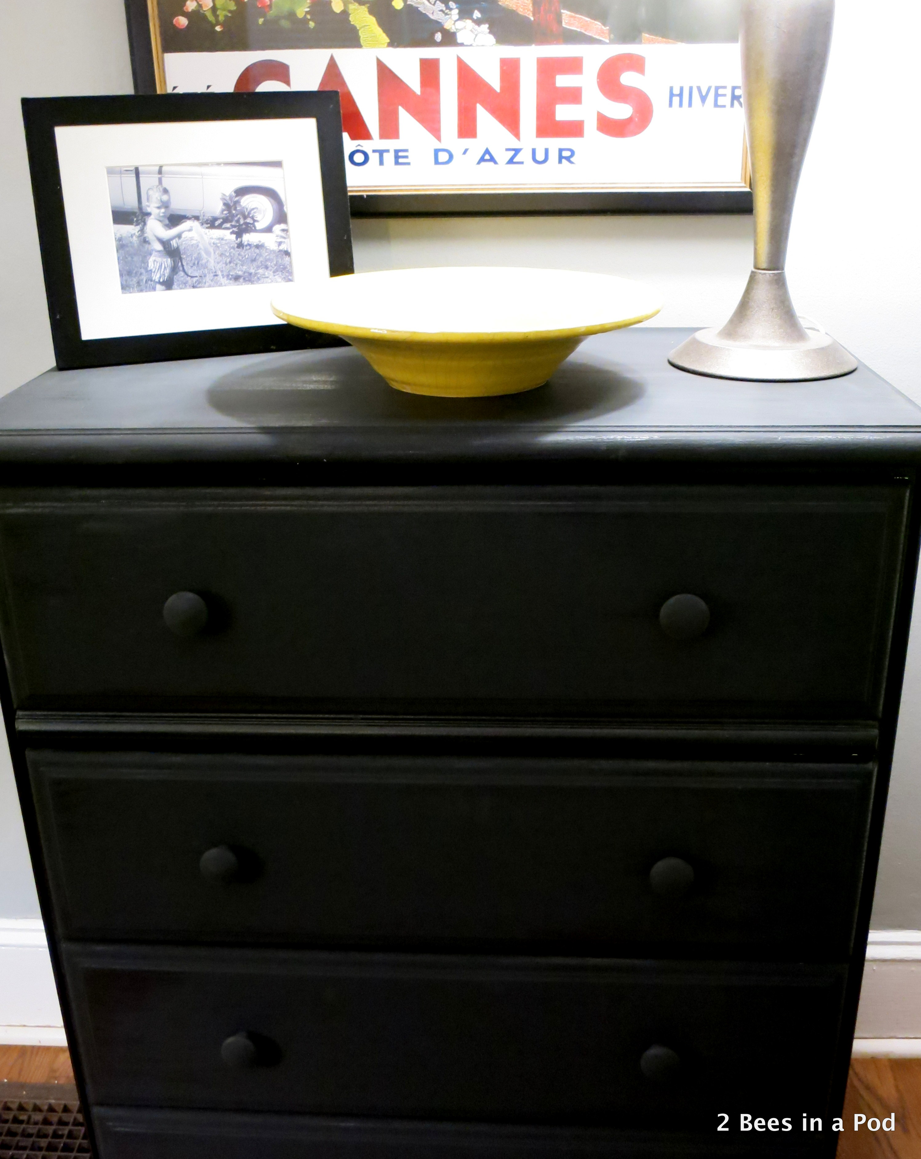 Trash to Treasure, Dresser with Black Chalk Paint