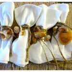 DIY Nautical Seashell Tablescape Napkin Rings...easy  seashell beach craft.