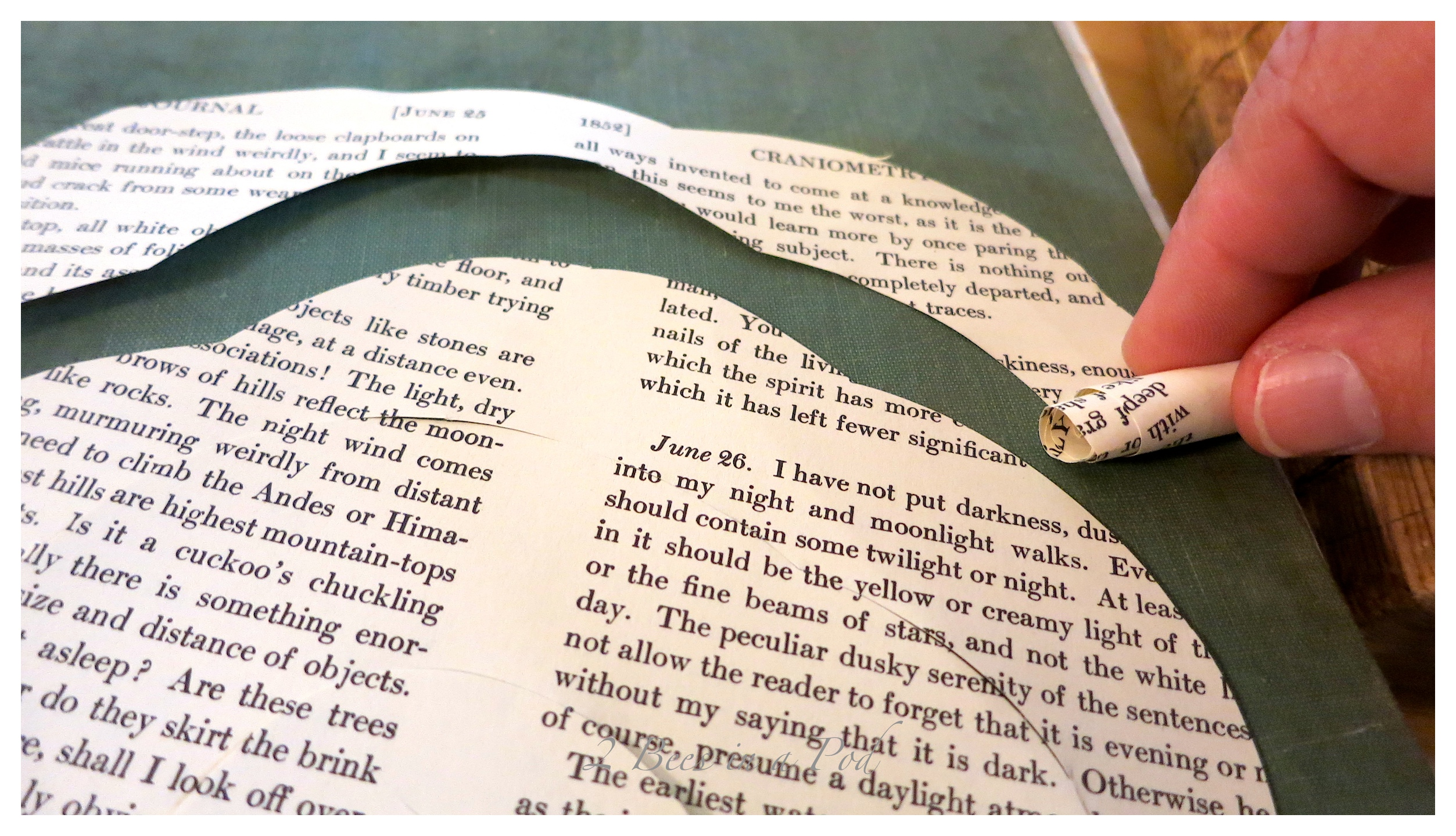 DIY - paper roses made from vintage book page. An easy, simple to follow tutorial.