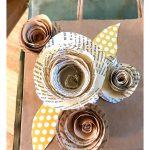 DIY – Paper Roses from Vintage Book Pages…