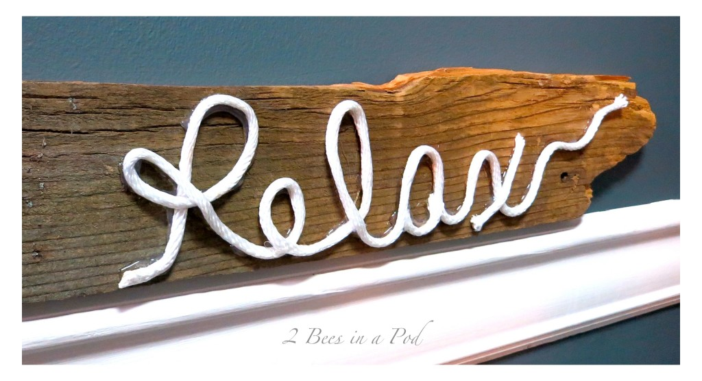 Diy Rustic Sign Made From Fence Post And Rope 2
