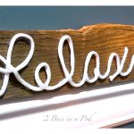 DIY Rustic Sign – Made from Fence Post and Rope…