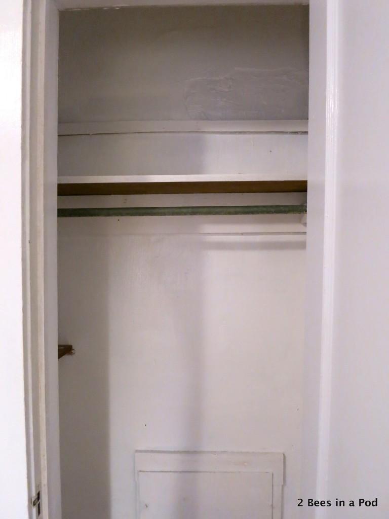Closet getting made over into laundry closet