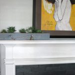 Mantel Spruce Up with diy planter & succulents