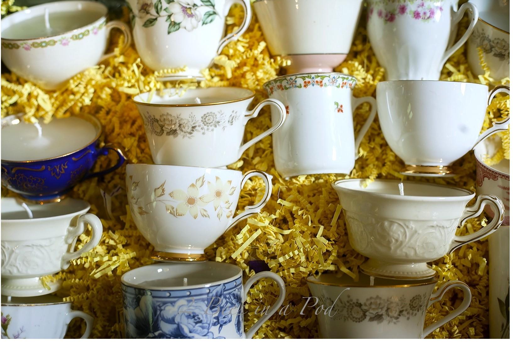 DIY Bridal Shower Favors – Teacup Candles…