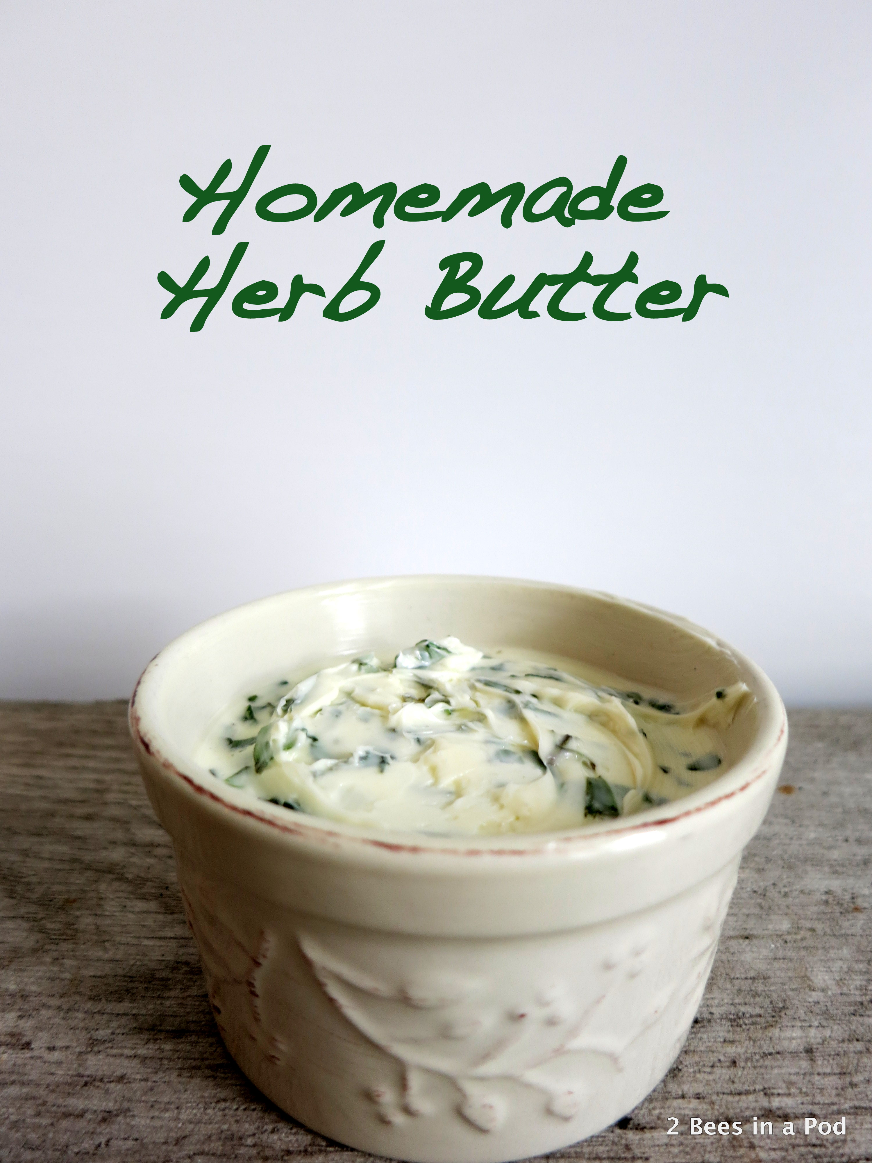 Homemade Herb Butter with Basil & Oregano