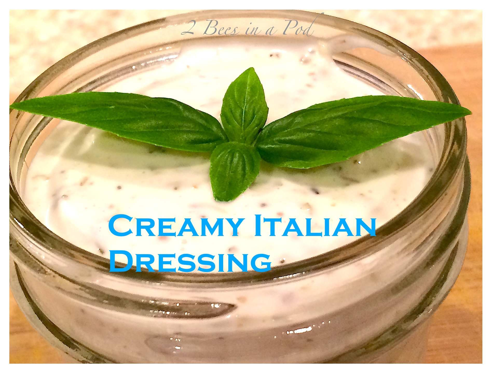 Recipe for creamy Italian dressing. Love the red wine vinegar and garlic flavor!