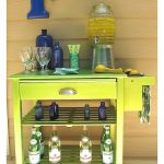Microwave Cart Makeover to Bar Cart. Microwave Cart Makeover to Bar Cart with Modern Masters Metallic Paint.