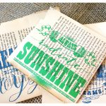 2 Minute Quick Print Art Quote Using Vintage Book Pages…