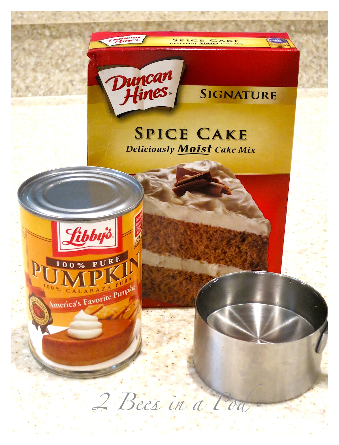 Cake Mix And Can Of Pumpkin Weight Watchers