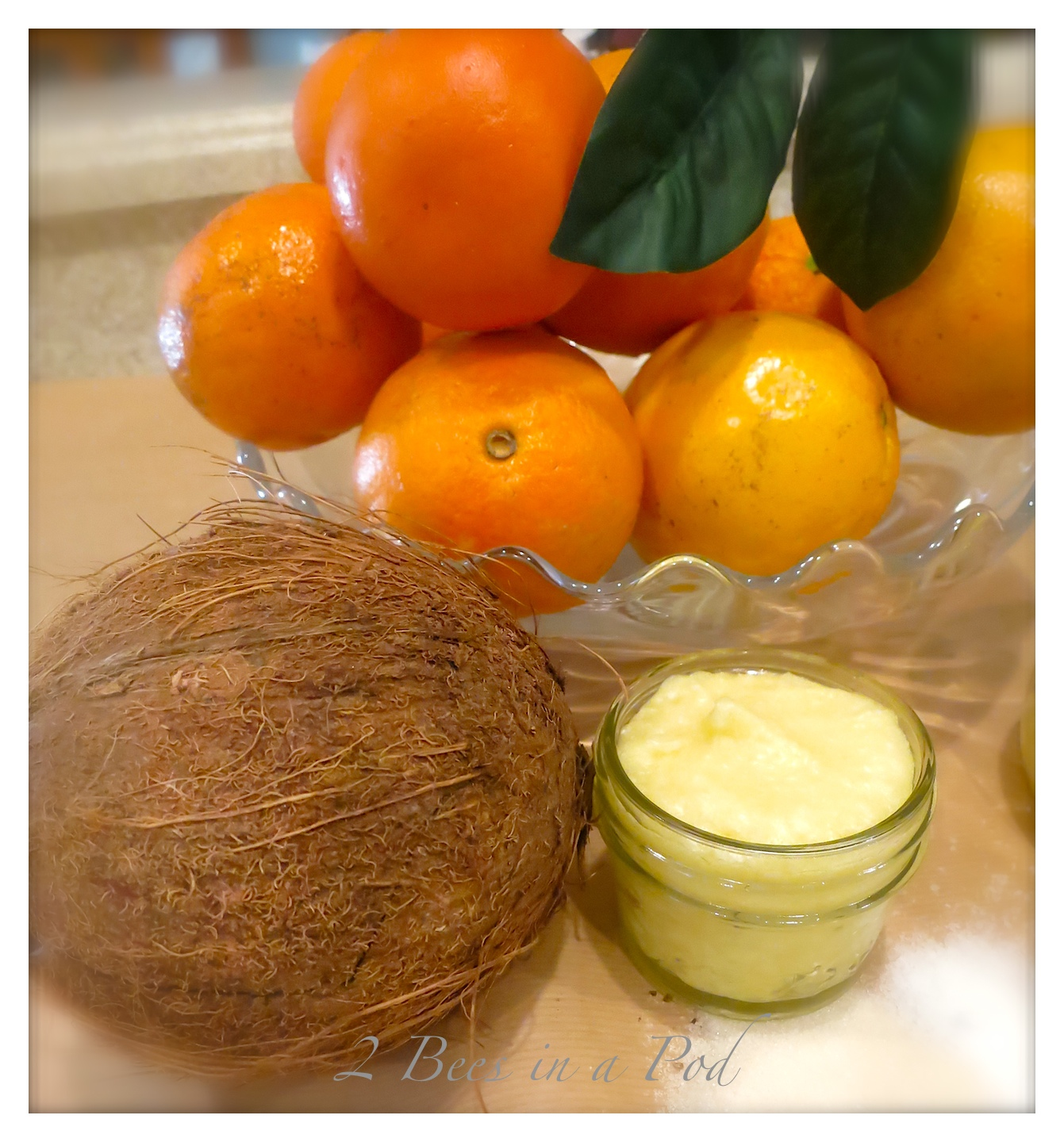 Handmade Coconut Orange Body Scrub. Super creamy and fragrant.