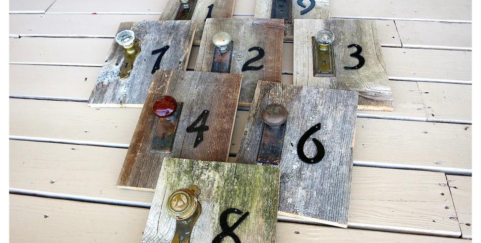 DIY Rustic Wedding Table Numbers