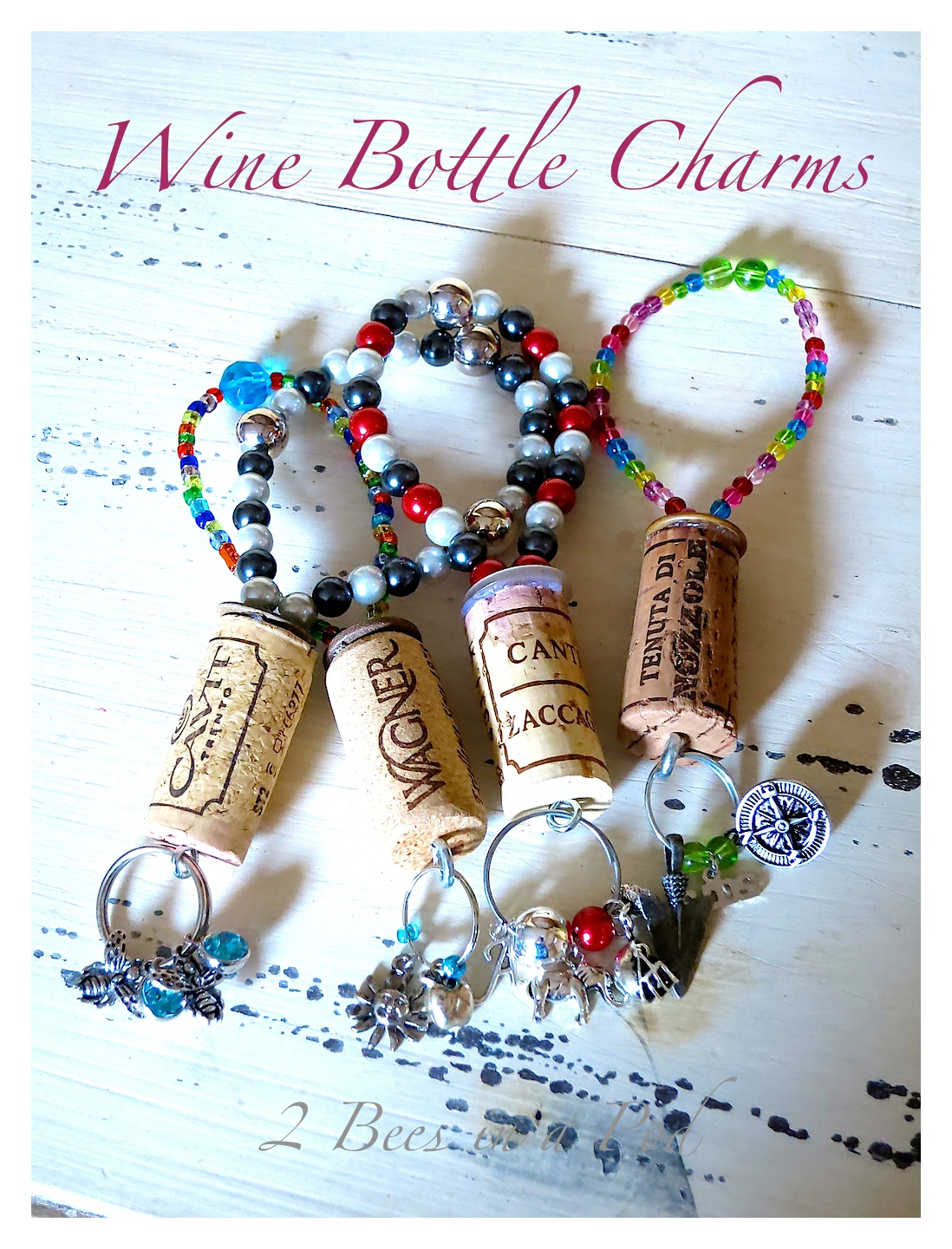 DIY Wine Bottle Charms...a great holiday hostess gift